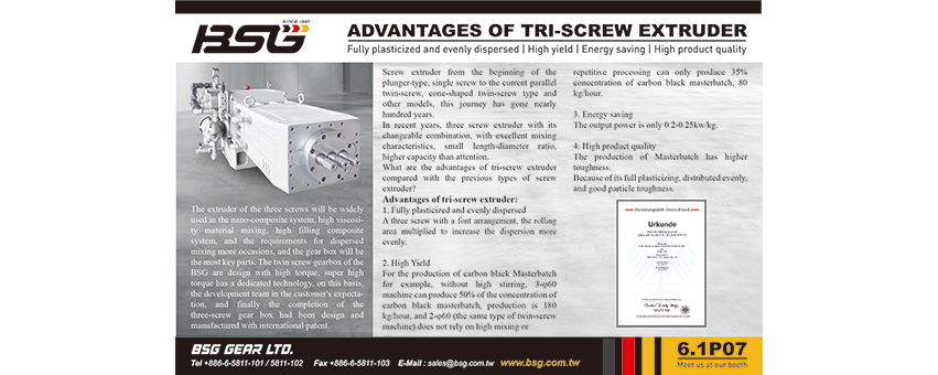 Advantages of tri-screw extruder Picture